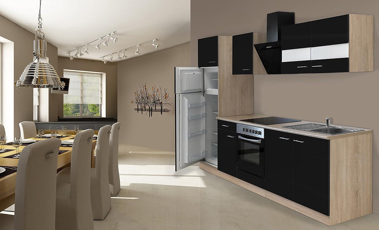 respekta Cocina Completa, 270 cm, Roble, Incluye Nevera, congelador y vitrocerámica