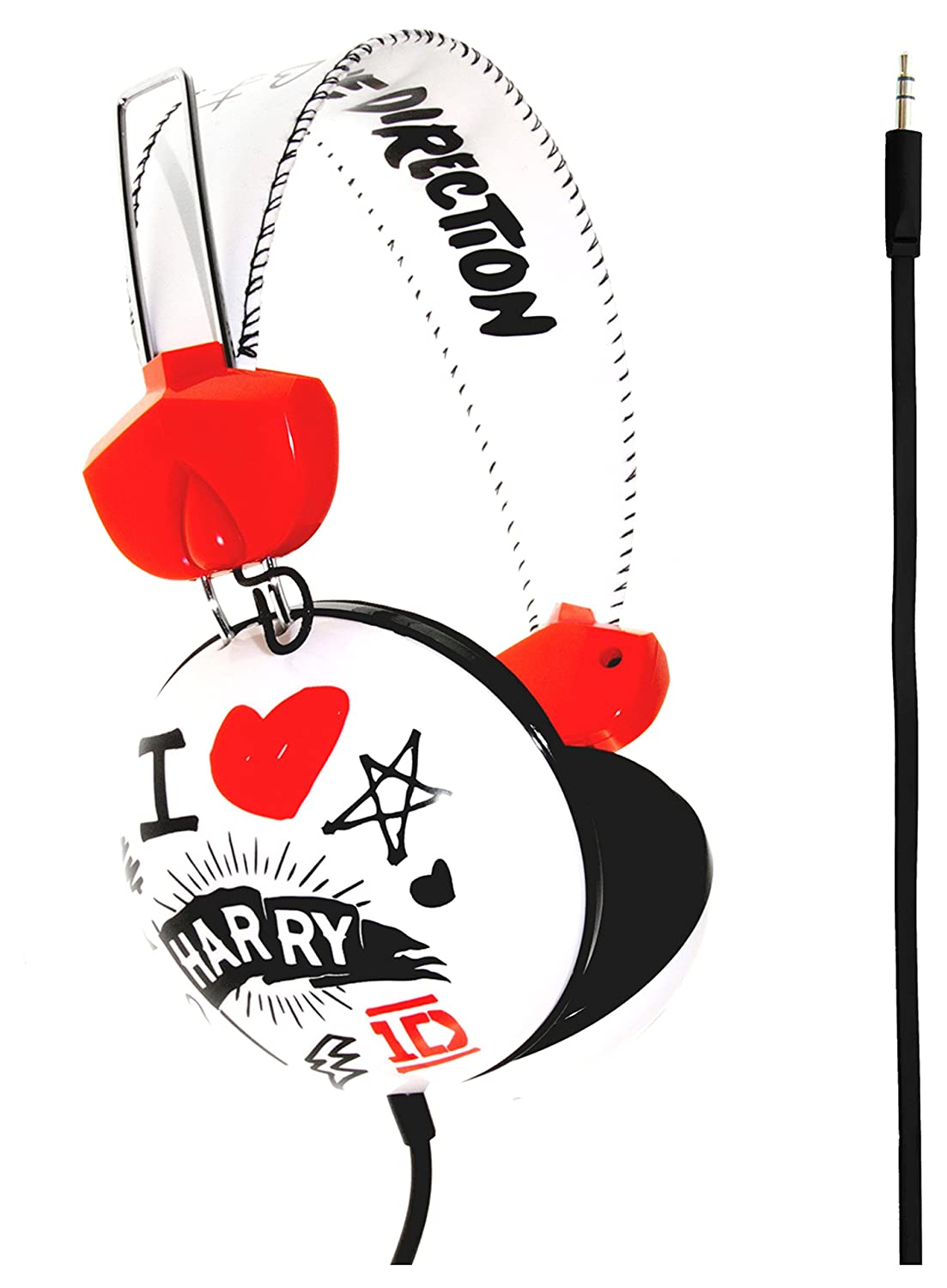 One direction i love 1d official on ear headphones amazon one direction i love 1d official on ear headphones amazon electronics voltagebd Choice Image