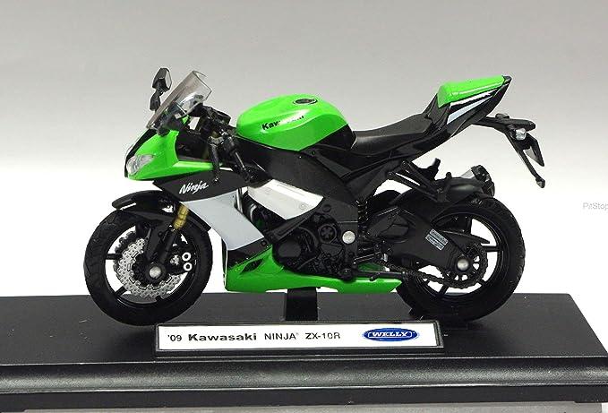 Amazon.com: Kawasaki ZX-10R NINJA (2009) Diecast modelo de ...