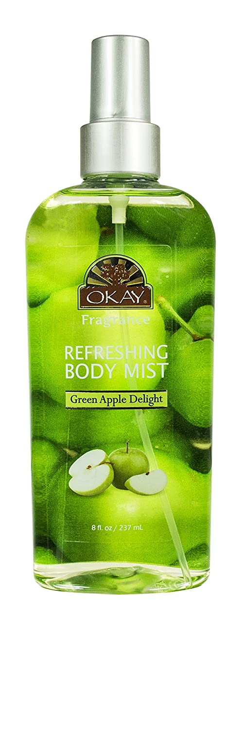 Refreshing Body Mist Green Apple Leaves You Beautifully Scented Fully Refreshed Will Awaken Your Senses Leaving You Feeling Revitalized Silicone,Paraben Free For All Skin Types Made In USA 8oz