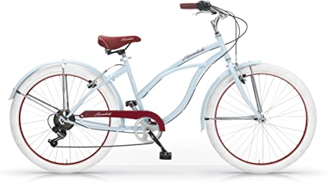 MBM Honolulu Bicicleta para mujer, 45 cm, color azul: Amazon.es ...