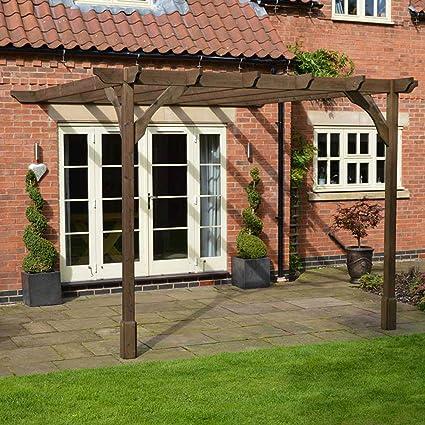 Rutland County Muebles de jardín Premium Lean To Pérgola – 5 Hecho a Mano en Reino Unido: Amazon.es: Jardín