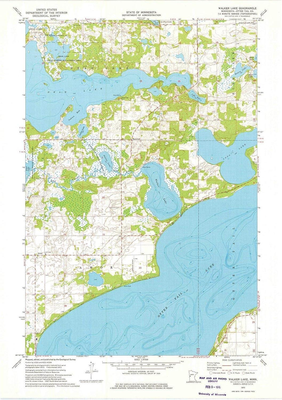 Amazon com: Minnesota Maps | 1973 Walker Lake, MN USGS