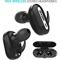 INVONS Bluetooth Mini In Ear Noise Canceling Stereo Headphones (Black)