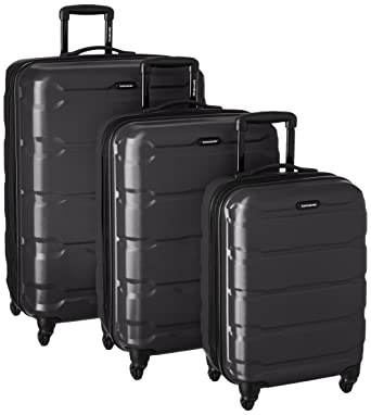 Amazon.com | Samsonite Omni PC 3 Piece Set Spinner 20 24 28, Black ...