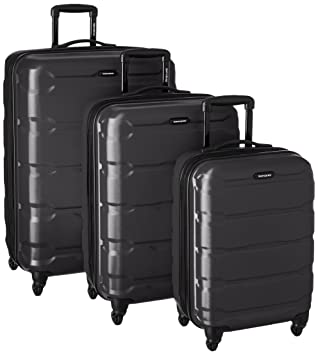 amazon com samsonite omni pc 3 piece set spinner 20 24 28 black