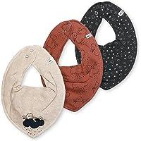 Pipp i Babywear - Juego de 3 pañuelos triangulares para bebé (conejo de buenas noches)
