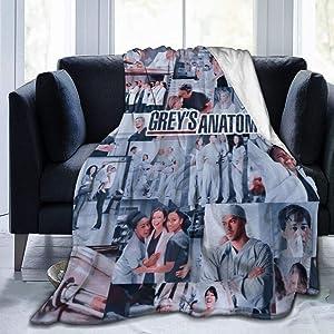 WANGH Greys-Anatomy Fleece Blanket Super Soft Warm Bed Blanketfor Bed Living Room Sofa Travelling Blankets 50