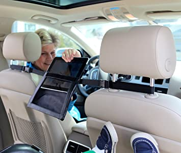 Tablet2Go iPad Holder for the Car- mount between headrests for full