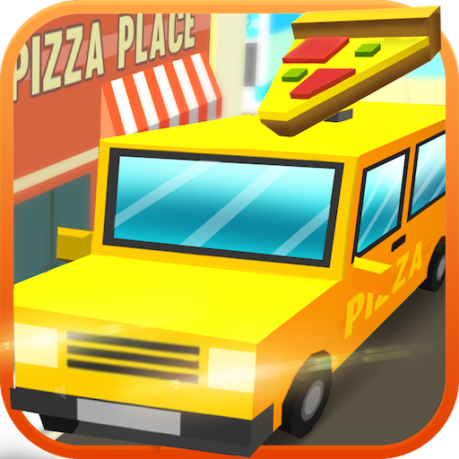 Blocky Pizza Sandwich Delivery Driver Simulator: Delivery Tycoon Food Transporter in Van Simulation 3D Game (City Food)