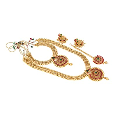 Amazon com: Indian Designs Ethnic Temple Jewellery Gold