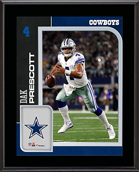 57d98d3da05 Dak Prescott Dallas Cowboys 10.5   x 13   Sublimated Player Plaque - NFL