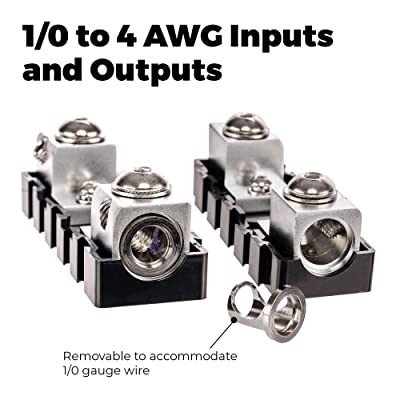 NVX XFMANL 0 to 4 Gauge Stackable Modular ANL Fuse Block Connecting Modular ANL Fuse Holder for 0 to 4 Gauge Wire.