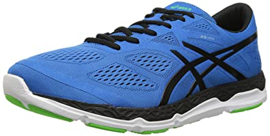 ASICS Men's 33-FA Running Shoe, Blue/Black/Flash Green, 7.5
