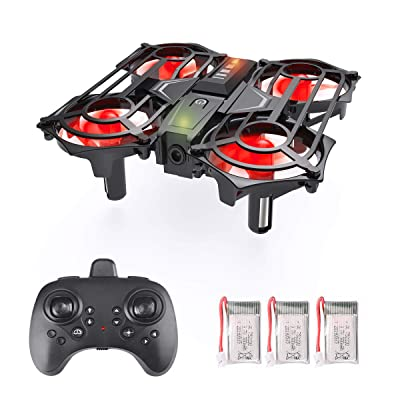 Ledoo Mini Drone for Kids, Beginners RC Helicopter Plane with Auto Hovering, Easy Indoor Small Flying Drone,3D Flip, Headless Mode and and 3 Batteries Toys for Boys and Girls: Toys & Games
