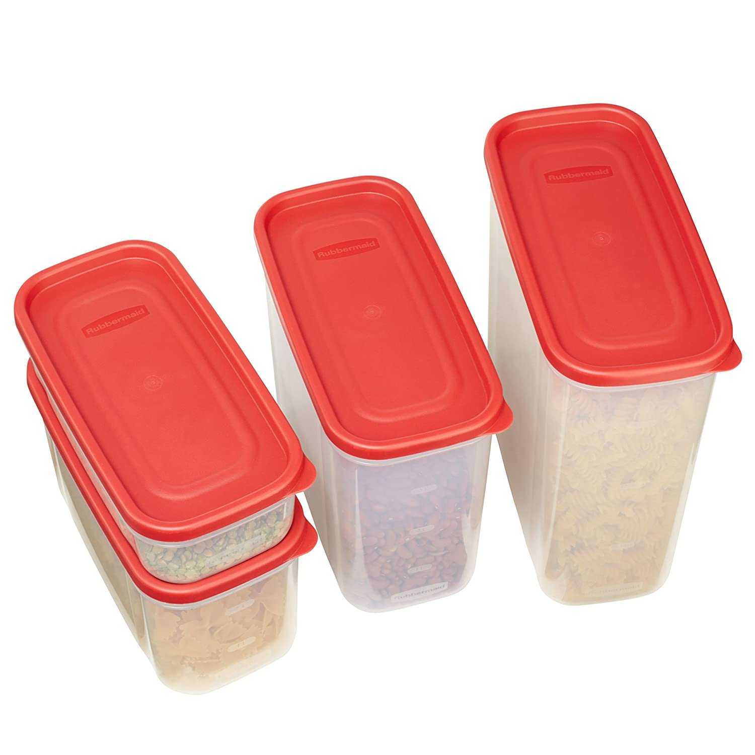 Rubbermaid Modular Food Storage Canisters Racer Red 8 Lock Ampamp Ordinary Crisper Hpl932d700ml Piece Set 1776474 Containers Kitchen Dining