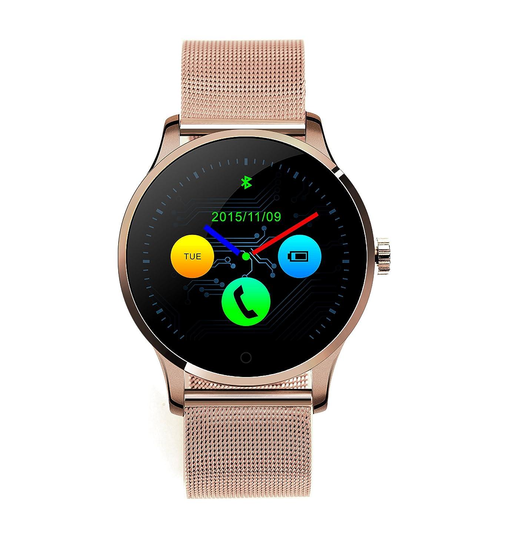 RG Bluetooth de cuero elegante reloj con de ejercicios para ...
