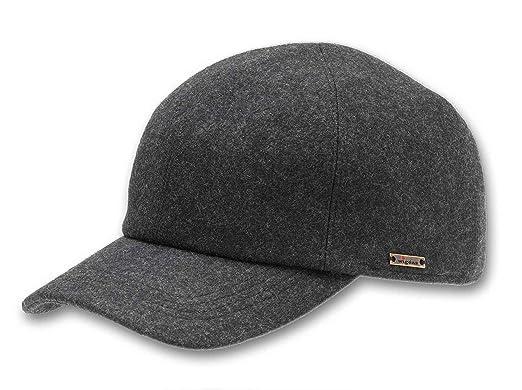 b300c2e0c9f754 Wigens Mens Kent (Edgar) Wool Baseball Cap with Earflaps, Grey at ...