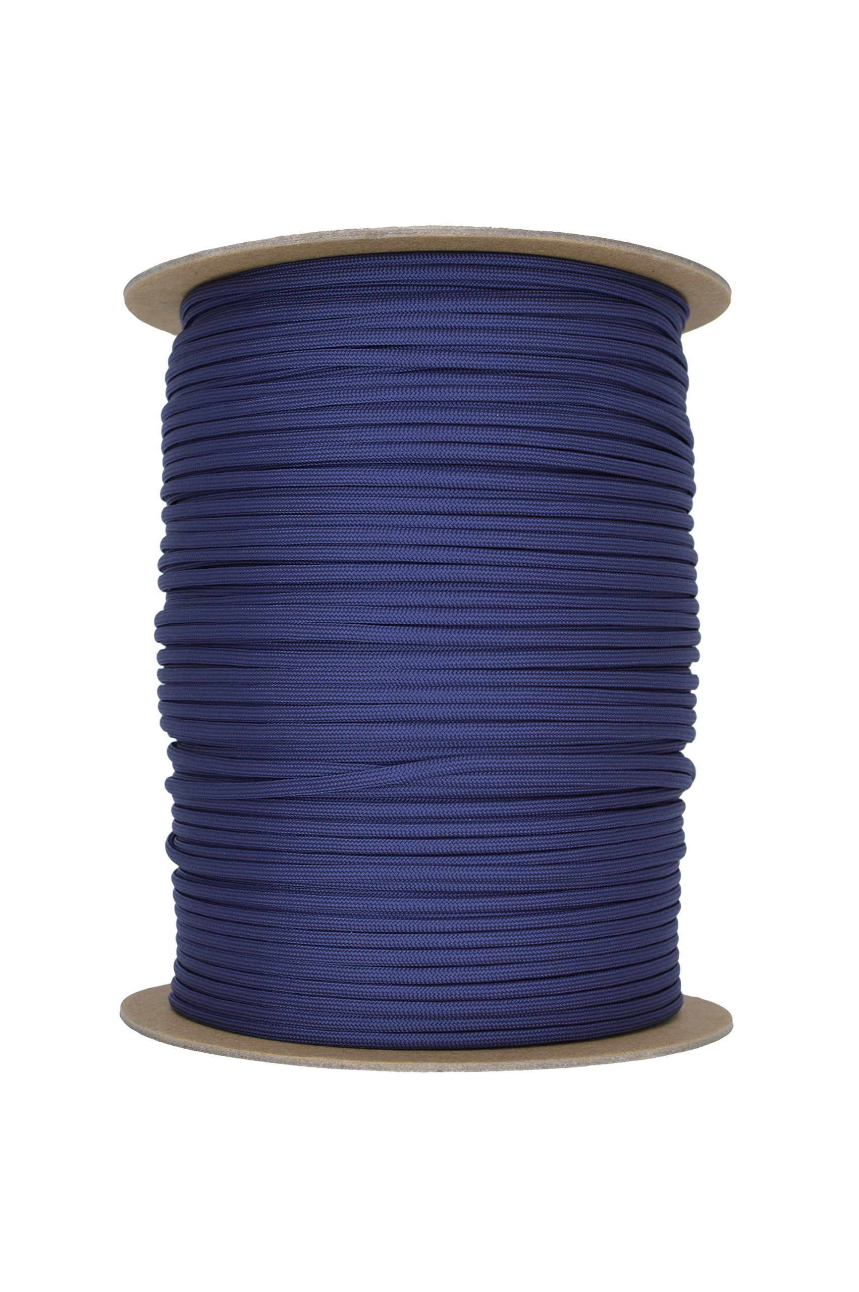 Paracord Rope 550 Type III Paracord - Parachute Cord - 550lb Tensile Strength - 100% Nylon - Made In The USA (Navy Blue, 50 Feet) by Paracord Rope (Image #2)