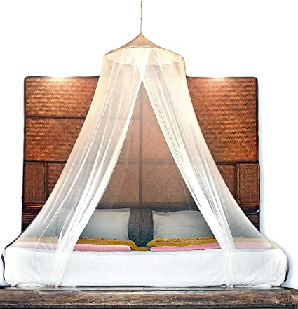 Merveilleux BASIK Nature Luxury Mosquito Net. PAGODA Round Mosquito Netting For Bed  Canopy Full / Queen