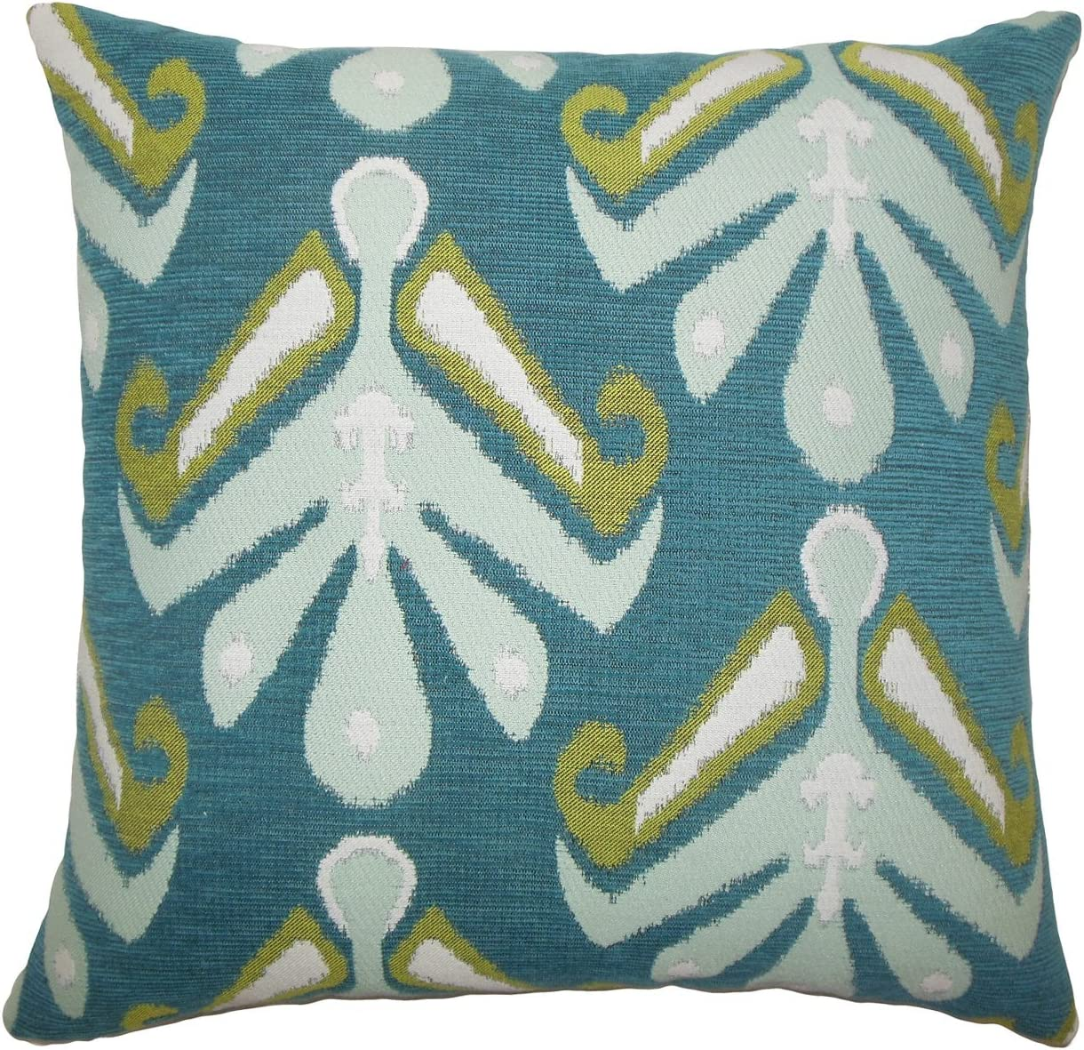 The Pillow Collection Berke Ikat Bedding Sham Indigo King//20 x 36