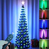 Epartswide Christmas Tree Artificial Christmas Tree with Lights Pop-Up Prelit Christmas Tree Collapsible 6FT Pencil…