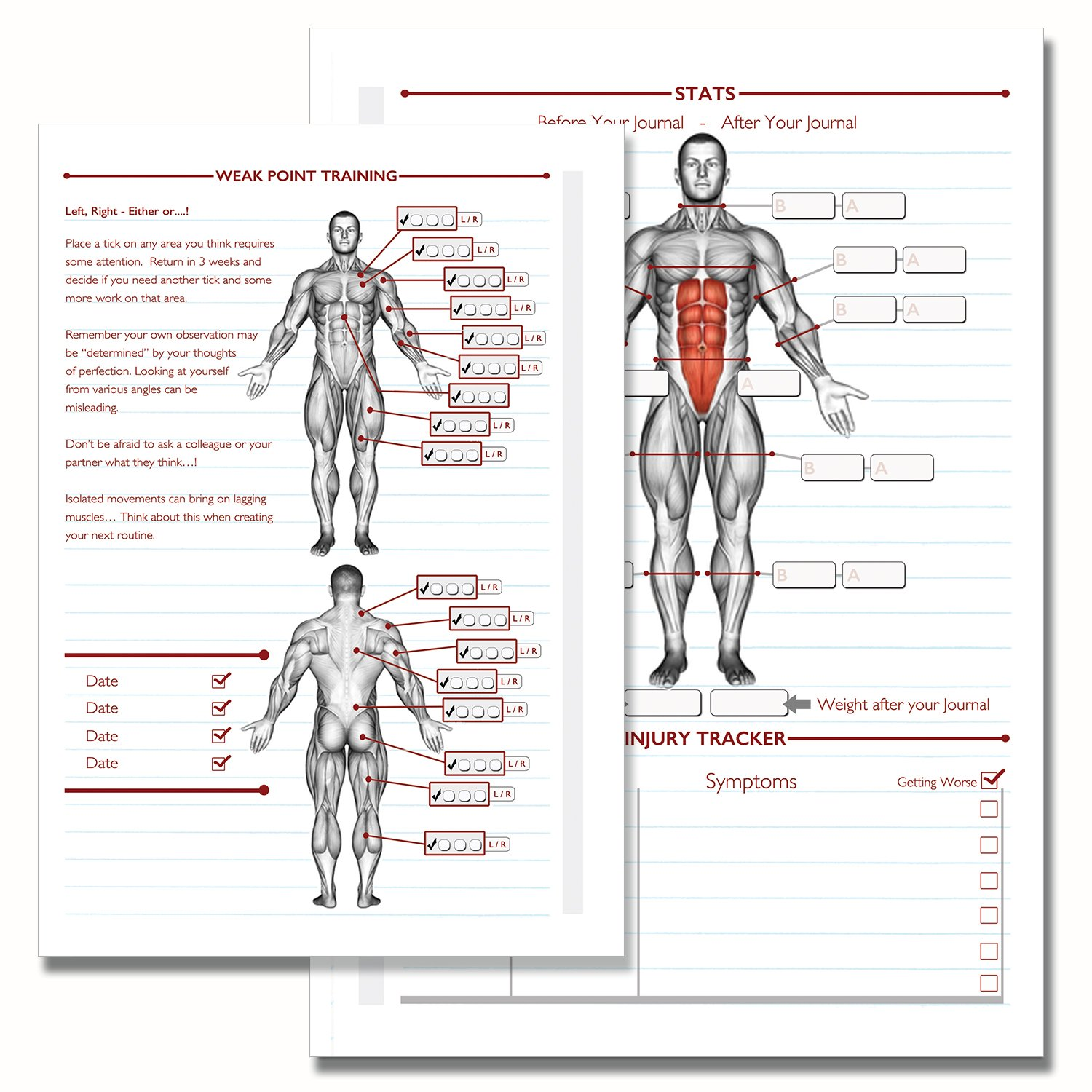 gym diary weight training diary log book a5 daily workout diary