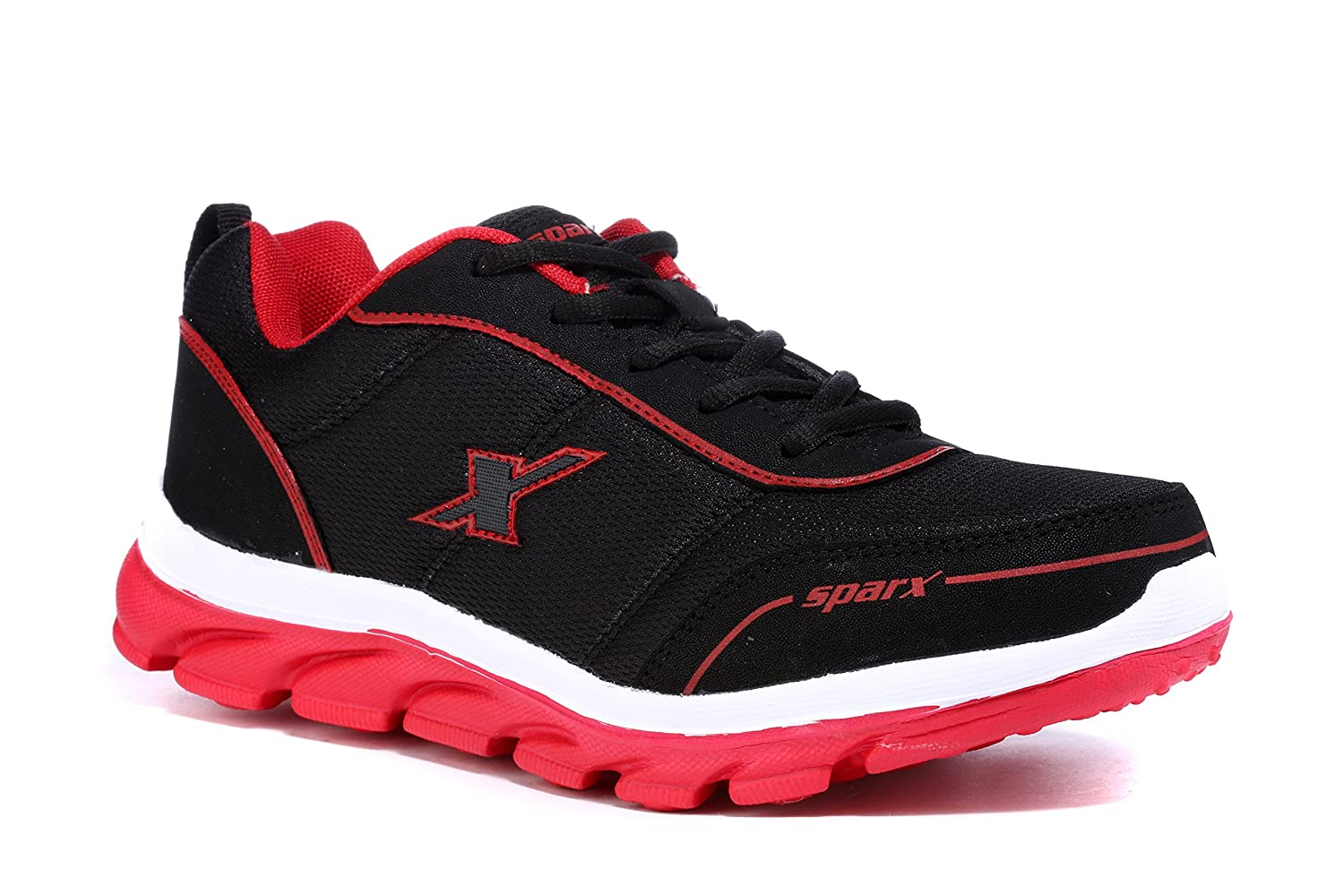 Sparx Men's Black and Red Sports Shoes