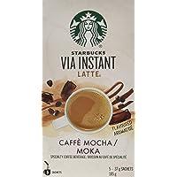 Starbucks Via Instant Latte Café Mocha, 5 Count