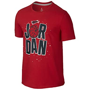 482b7f94dba685 Image Unavailable. Image not available for. Color  Nike Men s Jordan WB  Marvin the Martian Space T-Shirt Large Gym Red White Black