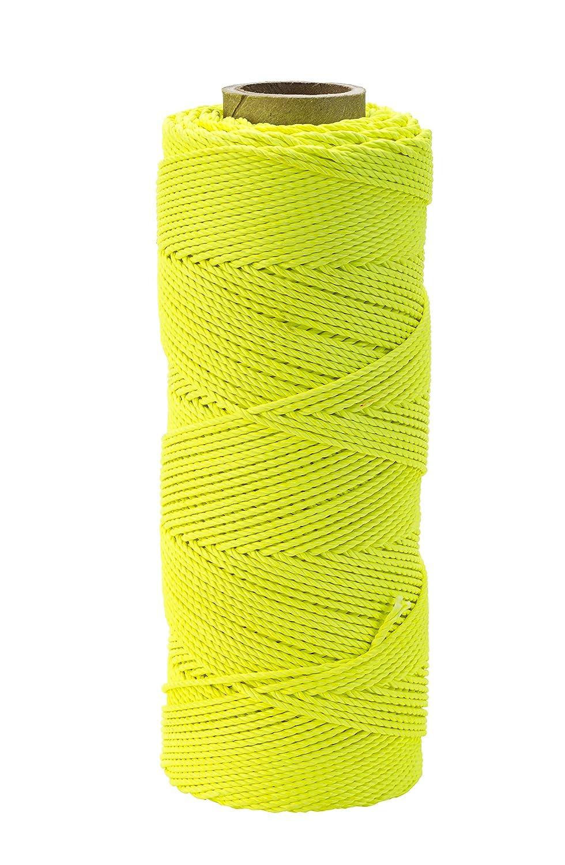 Braided Pack of 4 1lb 18 x 1000 Mutual Industries 14662-139-1000 Nylon Mason Twine Glo Lime 18 x 1000/' Mutual inc.