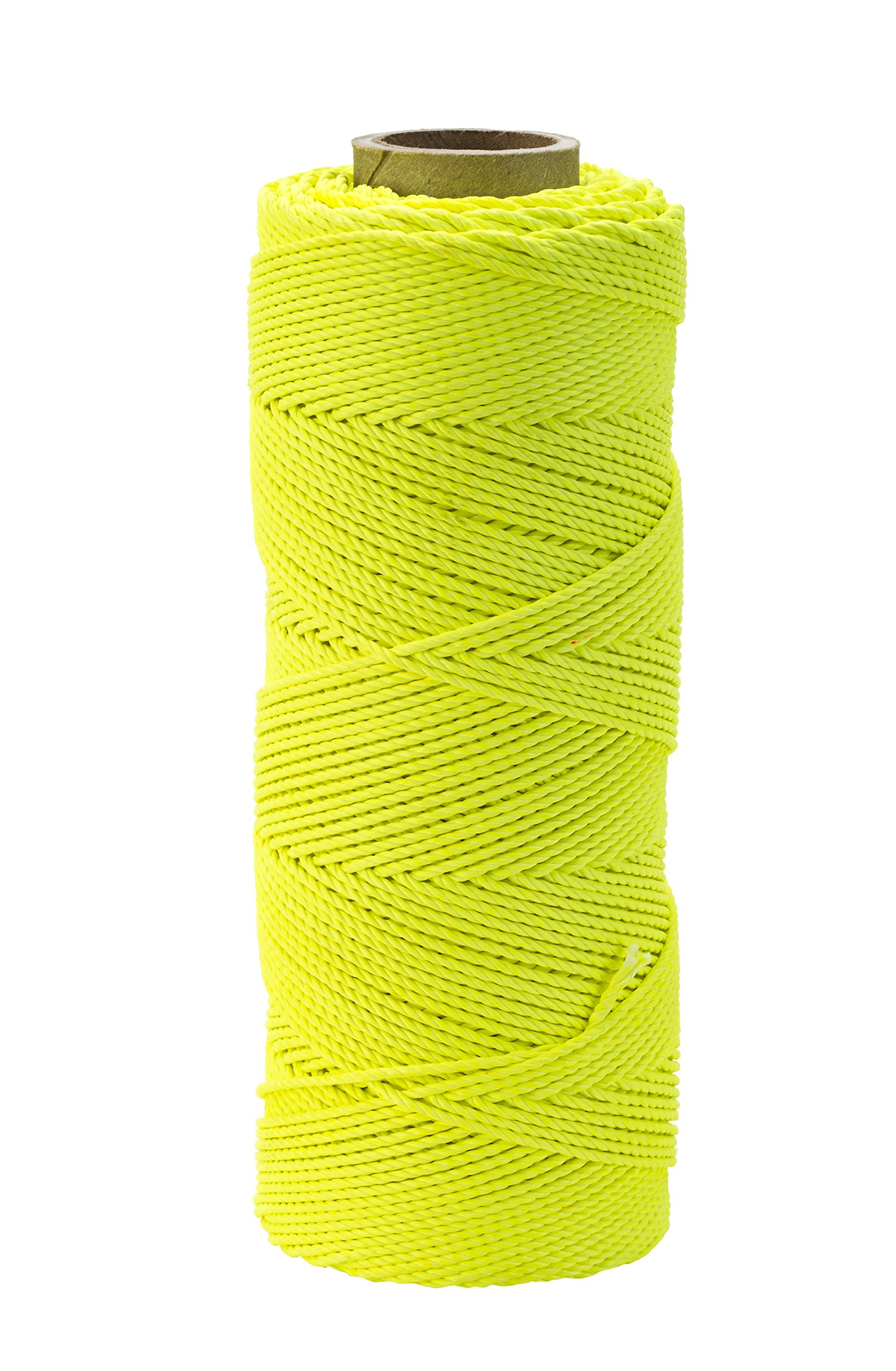 Mutual Industries 14662-139-1000 Nylon Mason Twine, 1lb. Braided, 18 x 1000', Glo Lime (Pack of 4) by Mutual Industries