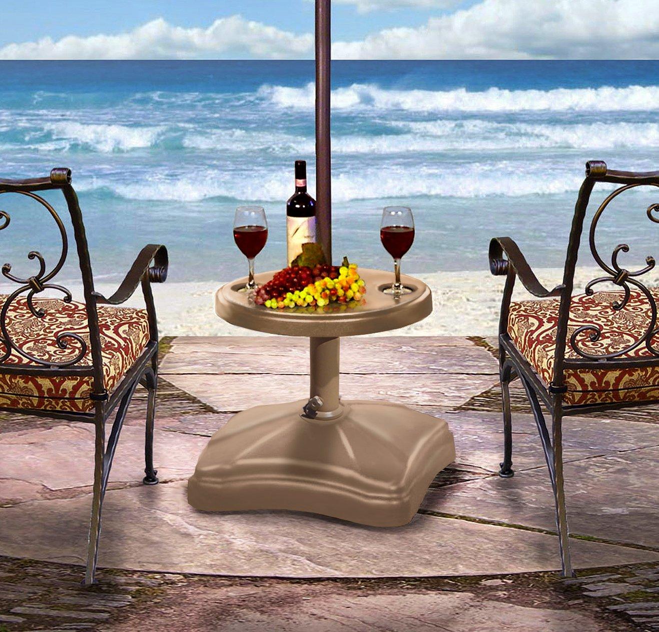 Amazon.com : Shademobile RU22 6275 Accessory Table, Bronze : Patio Umbrella  Bases : Garden U0026 Outdoor