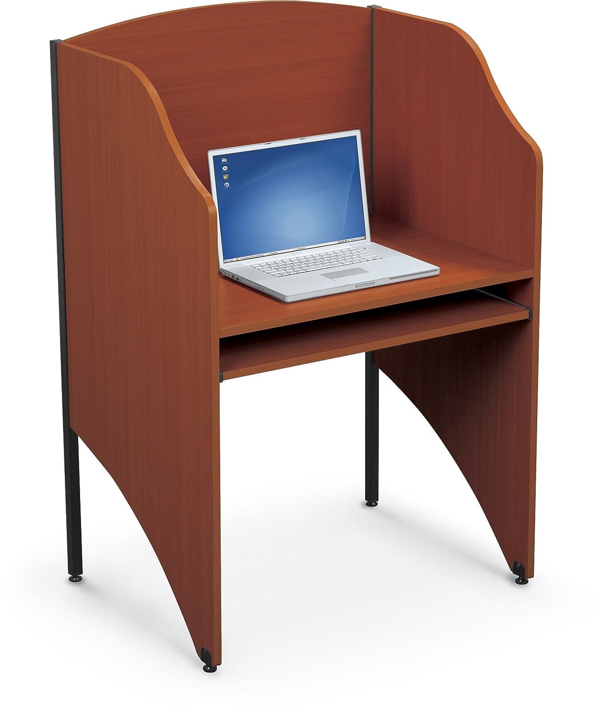 Balt Standard Floor Carrel Private Workstation, Starter Unit, Cherry (90124)