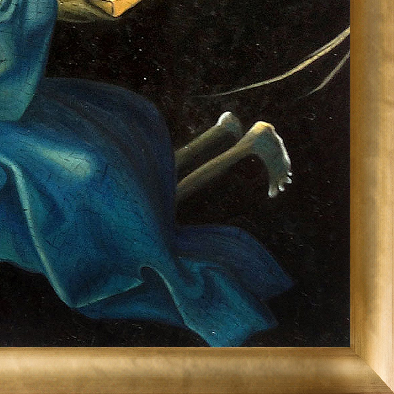 Gold Detail by Hieronymus Bosch with Luminoso Frame overstockArt The Garden of Earthly Delights