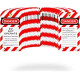 TRADESAFE Lockout Tagout Tags - 30 Pack - Premium 15 mil Nylon Plastic w/Zip Ties | Danger Do Not Operate Loto Tag…