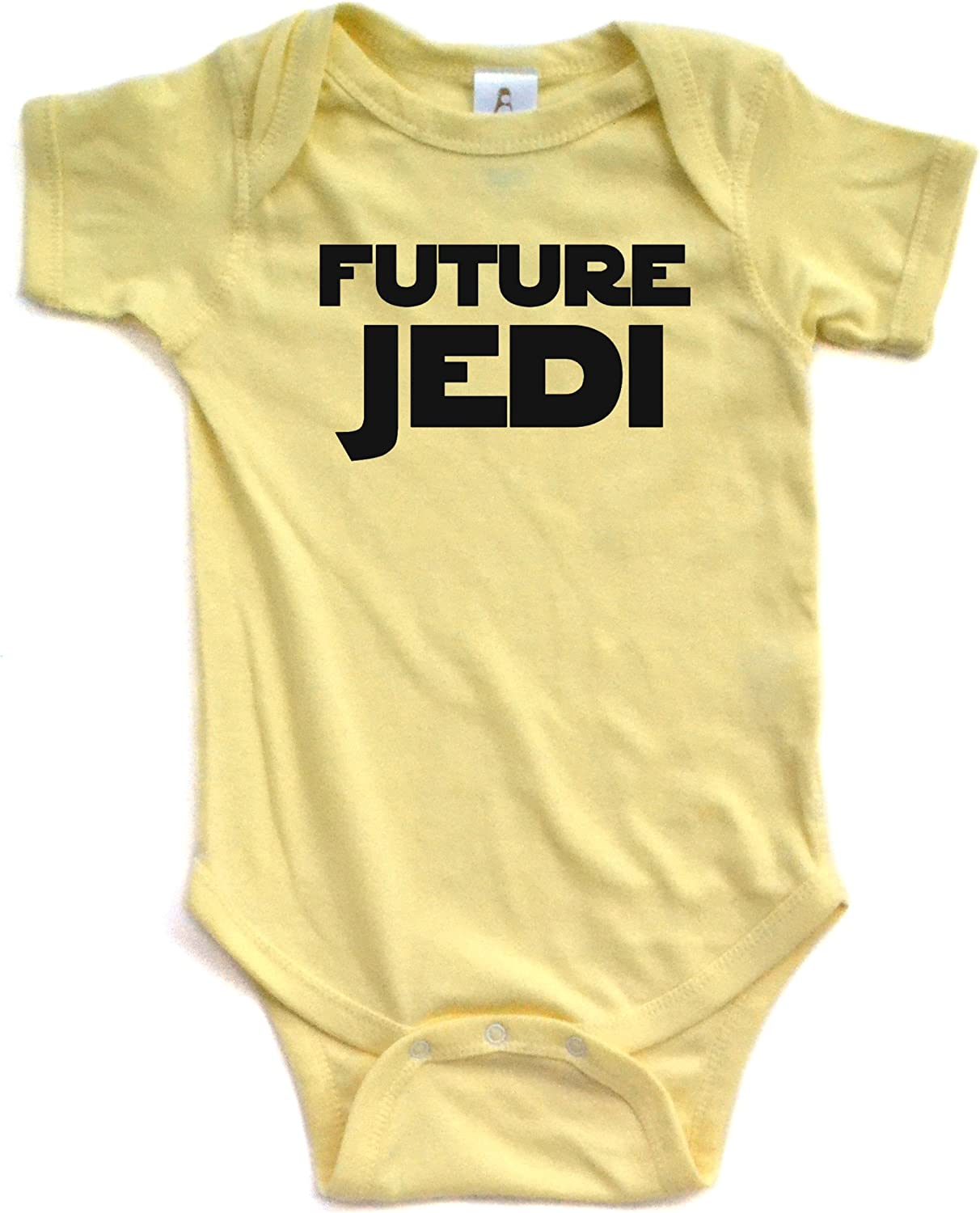 Apericots Adorable Future Jedi Soft and Comfy Cute Baby Short Sleeve Cotton Infant Bodysuit