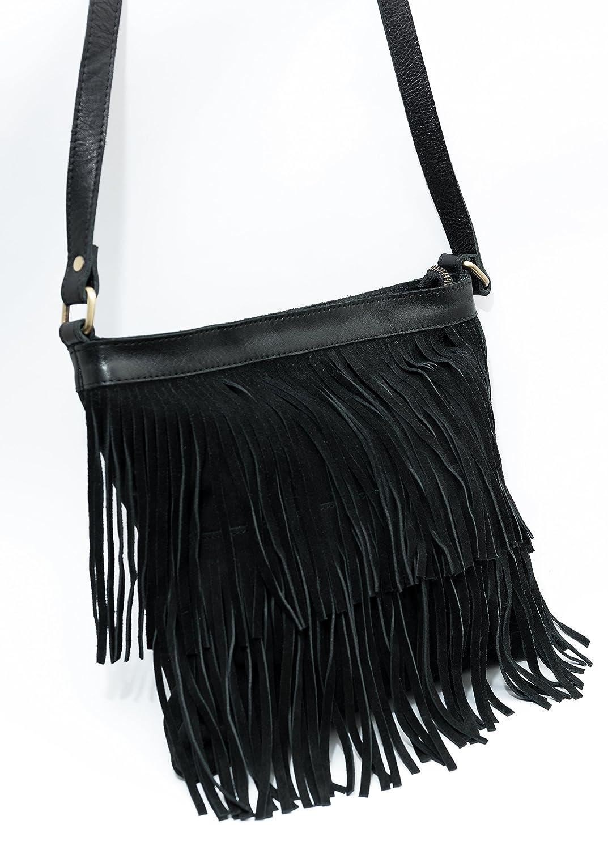 932e971b24877 Echt Wildleder Designer Tasche mit Fransen
