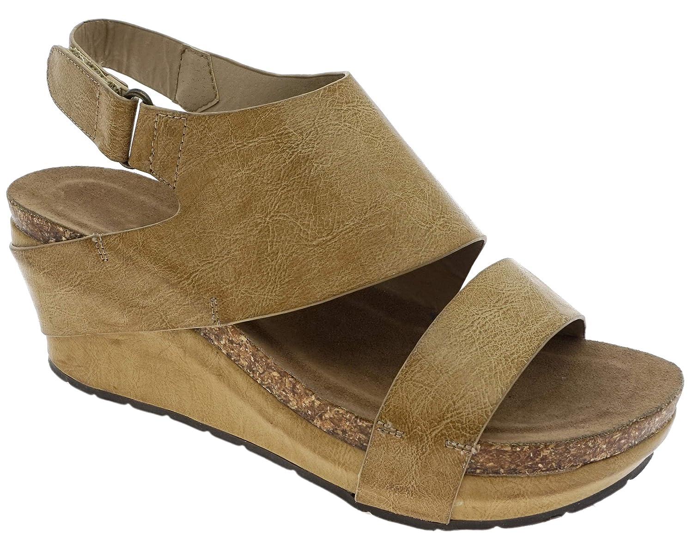 Nude6c MVE shoes Women's Open Toe Strappy Platform Sandals