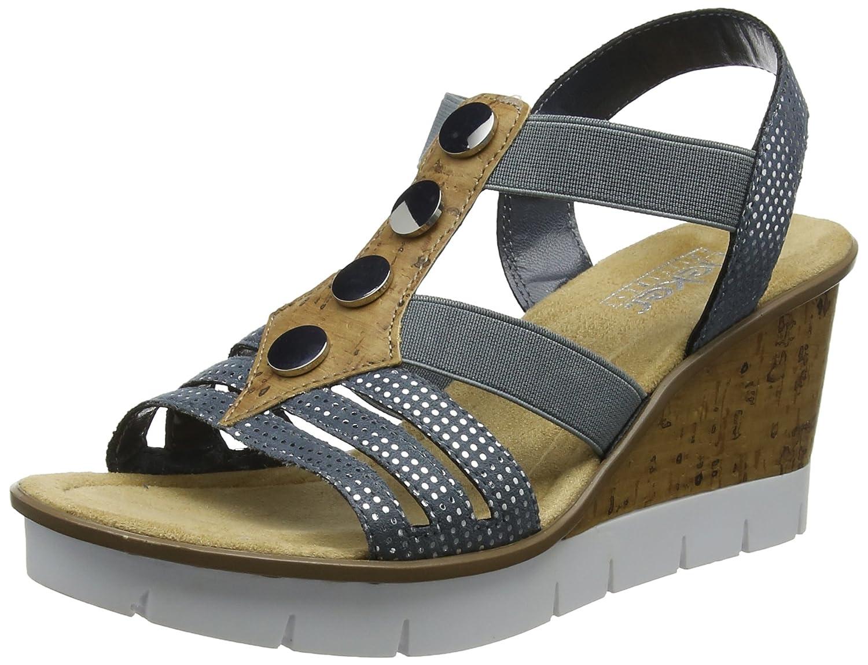 Rieker Rabea 37 Women's Sandal B07665DNRF 38 M EU|12 Bleu
