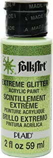 product image for FolkArt Extreme Glitter Acrylic Paint in Assorted Colors (2 oz), 2769, Neon Green