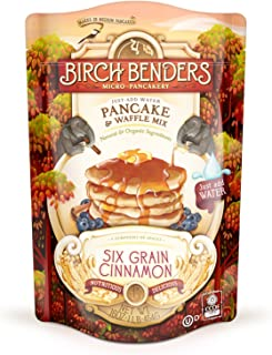 product image for Six Grain Cinnamon Pancake and Waffle Mix by Birch Benders, Made with Organic Ingredients, Whole Grain, Non-GMO, 16oz