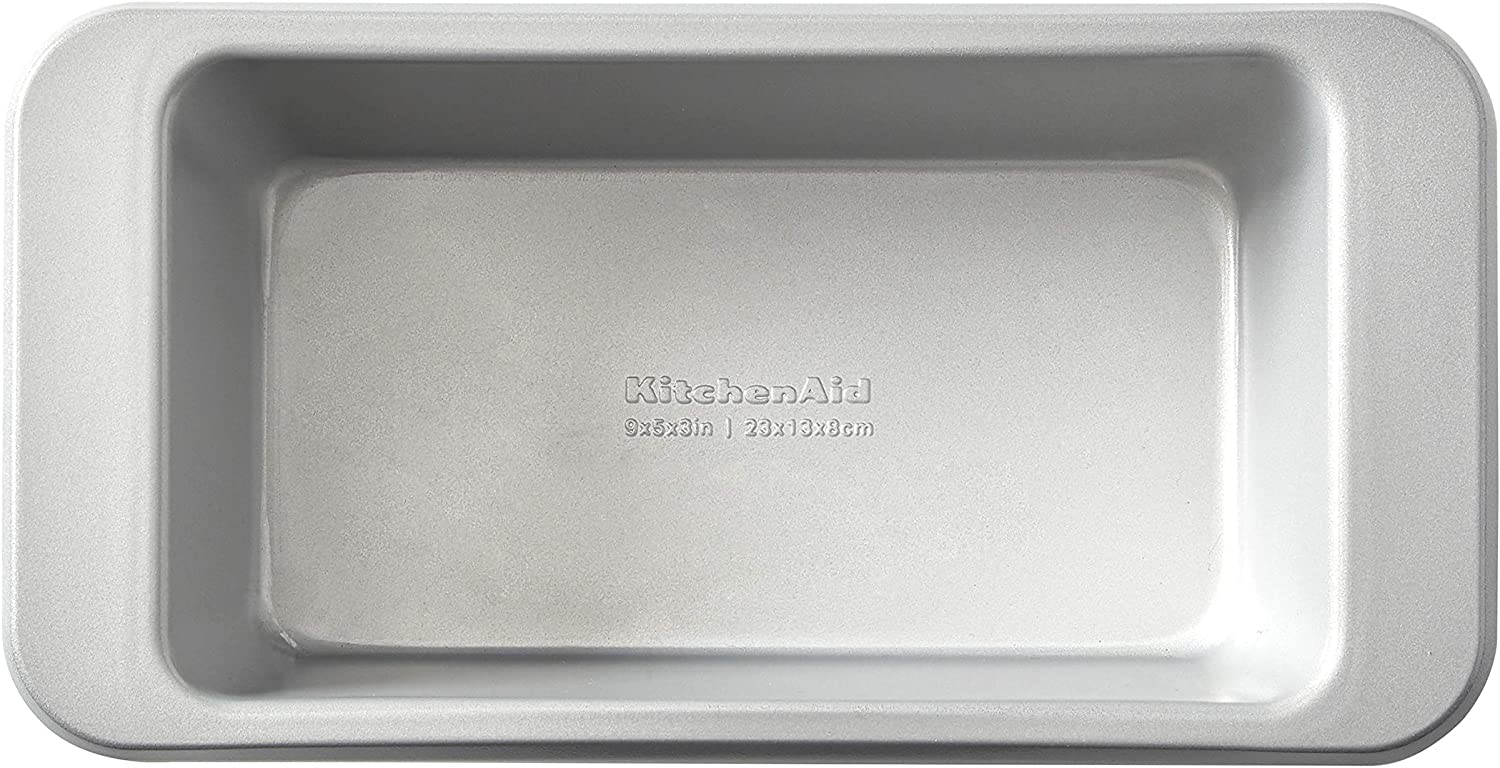 KitchenAid Nonstick Aluminized Steel Loaf Pan, 9x5-inch, Silver