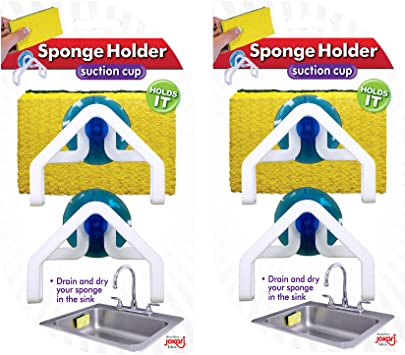 ODN White Convenient Sponge Holder Suction Cup Home Kitchen Holder Tools