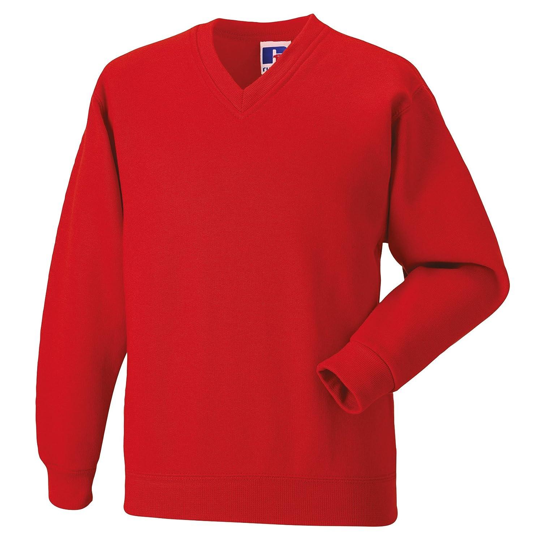 Jerzees Schoolgear Childrens Big Boys V-Neck Sweatshirt