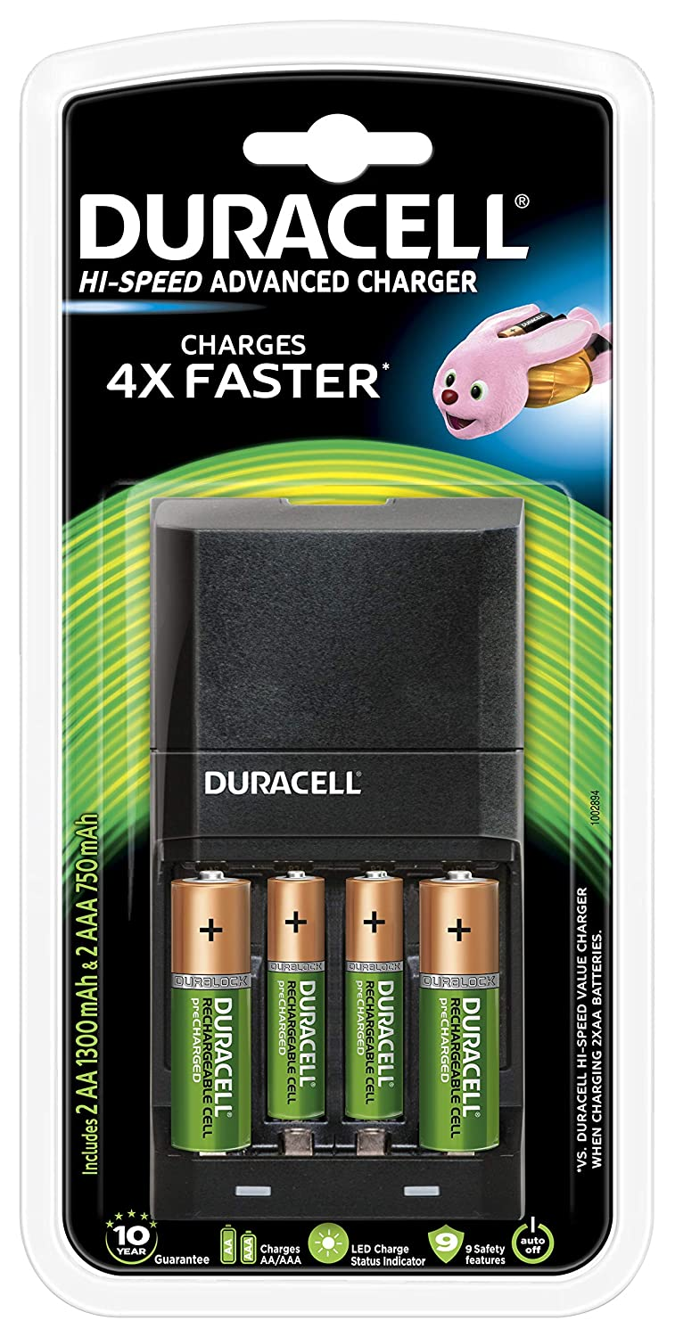 Duracell High Speed 5001378 Advanced Charger with 2 AA (1300