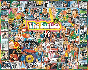 White Mountain Puzzles The Sixties - 1000 Piece Jigsaw Puzzle ...