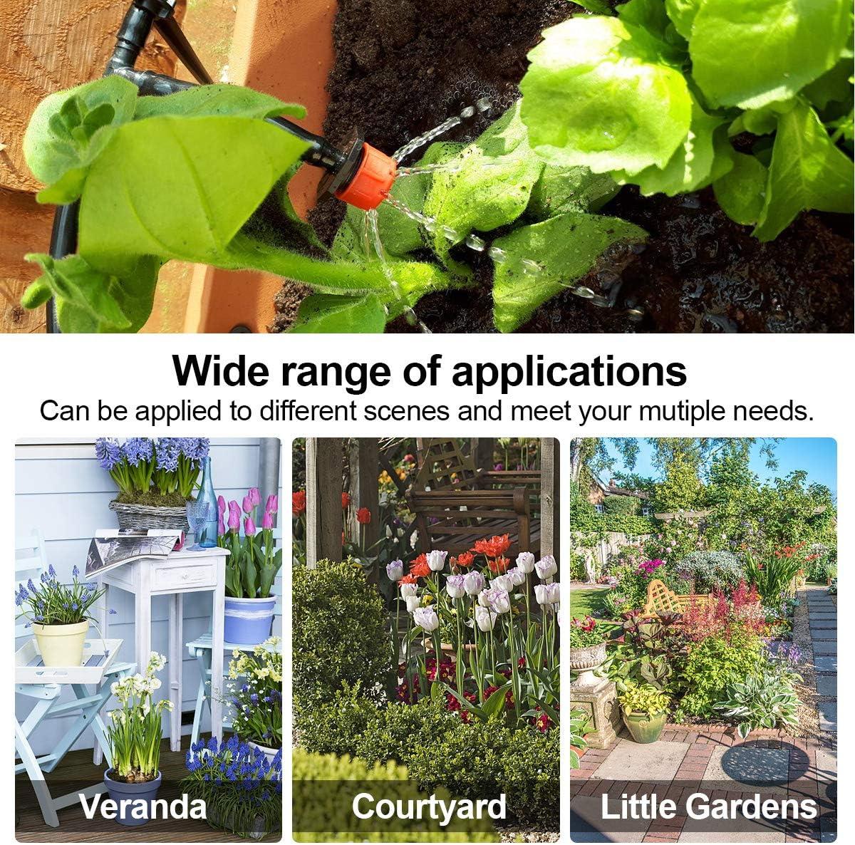 Sistema de riego Jardín, Kit de riego por goteo micro Riego automático Rociadores por goteo Riego de jardín para el paisaje, Lecho de flores, Plantas de terraza: Amazon.es: Jardín