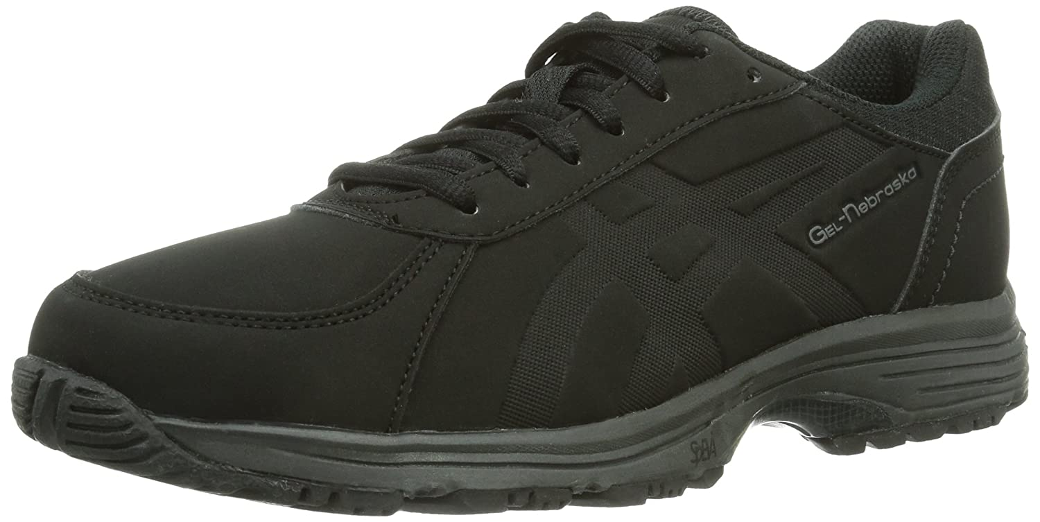 Asics GEL-NEBRASKA Damen Walkingschuhe  43.5 EU|Schwarz (Black/Black 9090)