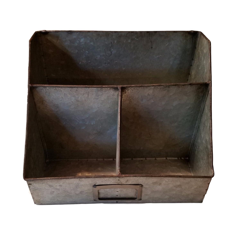 Industrial galvanizado lata placa organizador para cartas de ...